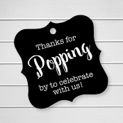 Thanks For Popping By Tags, Baby Shower Popcorn Tags, Wedding Popcorn Favour Tags