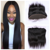 Derun Hair Best Quality 100% brazilian virgin hair Silky Straight 41cm ear to ear full Lace Frontal size 13*4