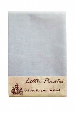 Baby Crib Flat sheet 100% Luxury Brushed Cotton in Blue