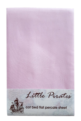 Baby Crib Flat sheet 100% Luxury Brushed Cotton in Pink