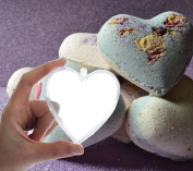 Tyoungg Plastic Heart Shape Bath Bomb Mould 5 Sets
