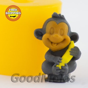 Soap Mould Monkey with banana 3D Food-grade Silicone Moulds animal Mould Mould for Soap.