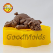 Soap Mould Dog 2 3D Food-grade Silicone Moulds animal Mould Mould for Soap.
