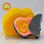 Soap Mould Butterfly on a rose Food-grade Silicone Moulds animal Mould Mould for Soap.