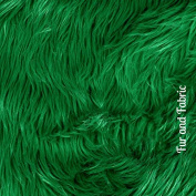 Plush Faux Fur - Cut Yardage - Hunter Green - Shaggy Shag by the Yard - Acrylic and Polyester Fur Accents Fur and Fabric Brand
