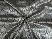 BROCADE FABRIC DARK SILVER & METALLIC GOLD colour - Hobbies,Home decor,Sewing,Fashion,Doll Dress,Furnishing,Interior.