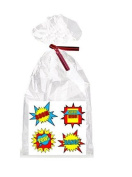 Boy's Super Hero Birthday Theme Party Supplies - 12 Party Favour Bags with Twist Ties