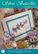 Silver Butterflies - Rajmahal Sadi Metal Thread and Art Silk Kit