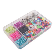 BangQiao Plastic Storage Box with Fixed Compartment,12-Grid,Clear