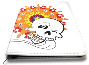 Colouring Book Folio (Skull with Lolly) - Organises and Protects Two Adult Colouring Books and 24 Coloured Pencils - Two Pockets for Crafting Tools - Only from Colorolio®