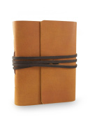 Nepali Pathfinder Journal with Handmade Lokta Paper and Water Buffalo Leather. Made in Nepal.