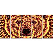Digital Art PT2360-401 Psychedelic Bear Large Animal Canvas Art