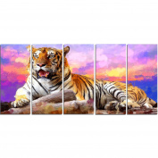 Digital Art PT2339-401 King of Tigers Large Animal Canvas Art