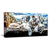 Digital Art PT2426-40-20 White Tiger Large Animal Wall Art