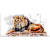 Digital Art PT2359-401 Captivating King Large Animal Canvas Art