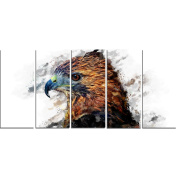 Digital Art PT2337-401 Hawk Eye Large Animal Canvas Art