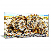 Digital Art PT2422-40-20 Soul Mates Lion Large Animal Wall Art