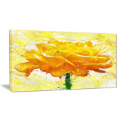 Digital Art PT3438-32-16 Yellow Rose Floral Canvas Art