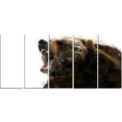 Digital Art PT2341-401 Beware of the Bear Large Animal Canvas Art
