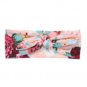 Baby Girls Head Wraps Floral Print Headband Kids Children Photo Props Turban Hair Accessories