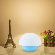 Tumbler Colourful Touch Light Sensor Dimmable LED Night Lights Atmosphere Decorative Lamp Nursery Nightlights for Baby Child Bedroom-Blue