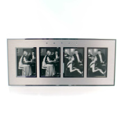 Home Decor BRUSHED SILVER PICTURE FRAME Metal Collage Silver Options 4009542