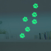 Marsway® Cute Paw Print Night Luminous Removable Kids Room Wall Decal Glow in the Dark Decorative Sticker