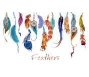 Bolayu Wall Sticker Classic Creative Dream Catcher Feather Art Decal Mural