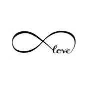 Bolayu 44*120CM Wall Stickers Bedroom Decor Infinity Symbol Word Love Vinyl Art