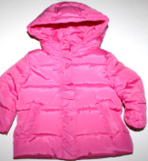 baby Gap Infant Toddler Girl's Neon Pink Puffer Jacket Coat with Hood
