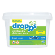 Dropps HE Laundry Detergent Pacs, Fresh Scent, 100 Count