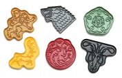 BPA-Free 6-pc Game of Thrones House Sigil Plastic Cookie Cutters Set