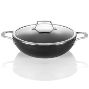 TECHEF - Onyx Collection, 30cm Wok / Stir Fry Pan with Glass Lid, coated with New Teflon Platinum Non-Stick Coating