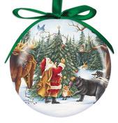 Cape Shore 7.6cm Santa with Animals Ball Ornament