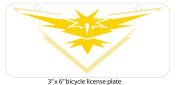 Detailed Fan Made Instinct Art Mini 7.6cm x 15cm Aluminium Licence Plate