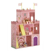 Badger Basket Fantasy Play Castle Dollhouse, Royal Family and Entourage with Furniture, 16-Piece, Multicolor