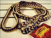 New Braided Poly Barrel Racing Contest Reins Flat W/easy Grip Knots 2.5cm X 2.4m