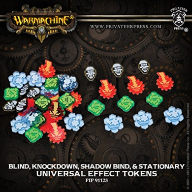 Warmachine and Hordes Universal Effect Tokens: Blind, Knockdown, Shadow BindstationeryMk3