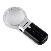 Home-organiser Tech LED Lighted Foldable Bright and Big Illuminated Handheld Magnifying Glass Handy Magnifier 3x Magnification Lens