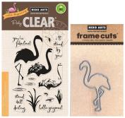 Hero Arts - Colour Layering Flamingo - Stamp and Die Set