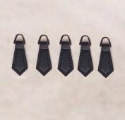 WellieSTR Black Zipper Pulls 10 Pack - For Leather Boot/Jacket/Bag/Purse