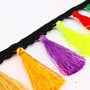 5yards Colourful Braideed Fringe Trim Ribbon Applique Tassel Trimming Sewing Accessories for Curtain Latin Dress T1580