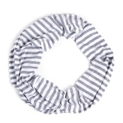 Nursing Scarf For Breastfeeding By Consider It Maid - Cotton & Polyester Blend, Soft, Lightweight & Breathable Material - Maximum Privacy - Modern, . Design - Grey/White
