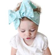 Alonea Baby Girls Cotton Big Bow Headband Elastic Hair Wrap for Newborns Elastic Dot Shower Party Hair Head Band Hair Accessaies
