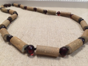 Hazelwood Necklace 46cm Polished Cherry Baltic Amber for adult for Gut issues Eczema, Acid Reflux, heartburn, and ulcers.
