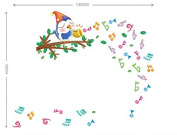 Singing Bird on the Tree Musical Note Removable Wall Decal Wall Sticker Wall Decor for Kids Children Room