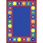 Joy Carpets Kid Essentials Early Childhood Alphabet Spots Rug, Multicoloured, 2.1m x 3m