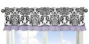 Sweet Jojo Designs Sloane Lavender Purple White Polka Dot and Damask Window Valance