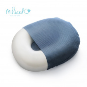 Milliard Foam Donut Pillow Orthopaedic Ring Cushion with Removable Cover, Large, 50cm x 38cm For Hemorrhoid, Coccyx, Sciatic Nerve, Pregnancy and Tailbone Pain, Firm