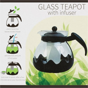 Kole OC840 Glass Teapot with Infuser, 1240ml/ 1.25 LT